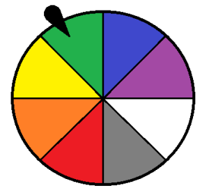 Wheel of color outcomes