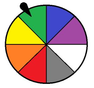 Wheel of color outcomes
